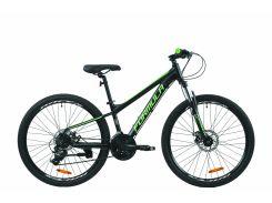 """Велосипед AL 26"""" Formula F-1 AM DD рама-13"""" черно-зеленый (м) 2020 (OPS-FR-26-429)"""