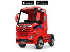 Детский электромобиль Грузовик Bambi M 4208 EBLR-3 Mercedes, красный