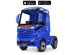 Детский электромобиль Грузовик Bambi M 4208 EBLR-4 Mercedes, синий