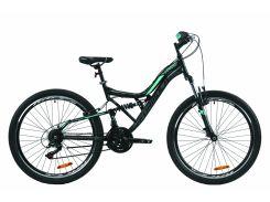 """Велосипед ST 26"""" Formula ATLAS AM2 Vbr рама-17"""" черно-зеленый с крылом Pl 2020 (OPS-FR-26-376)"""