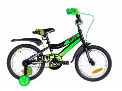 """Велосипед ST 16"""" Formula RACE рама-9"""" черно-зеленый с белым с крылом Pl 2020 (OPS-FRK-16-104)"""