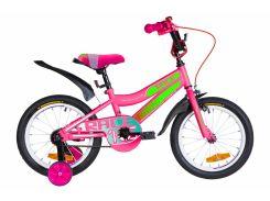 """Велосипед ST 16"""" Formula RACE рама-9"""" малиново-зеленый с голубым с крылом Pl 2020 (OPS-FRK-16-108)"""
