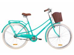 """Велосипед ST 28"""" Dorozhnik COMFORT FEMALE рама-19,5"""" бирюзовый с багажником зад St, с крылом St, с корзиной Pl 2020 (OPS-D-28-163)"""