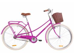 """Велосипед ST 28"""" Dorozhnik COMFORT FEMALE рама-19,5"""" фиолетовый с багажником зад St, с крылом St, с корзиной Pl 2020 (OPS-D-28-160)"""
