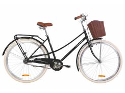 """Велосипед ST 28"""" Dorozhnik COMFORT FEMALE рама-19,5"""" черный (м) с багажником зад St, с крылом St, с корзиной Pl 2020 (OPS-D-28-162)"""