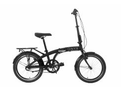 """Велосипед AL 20"""" Dorozhnik ONYX планет. рама-12,5"""" черный с багажником зад AI, с крылом St складной 2020 (OPS-D-20-029)"""