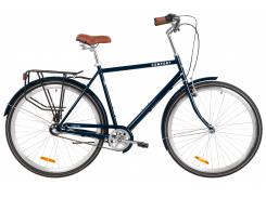 "Велосипед ST 28"" Dorozhnik COMFORT MALE планет. рама-22"" синий с багажником зад St, с крылом St 2020 (OPS-D-28-171)"