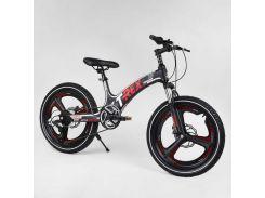 Детский спортивный велосипед 20'' CORSO «T-REX» 90860 (1) магниевая рама, 7 скоростей, собран на 75