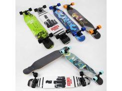 Скейт-лонгборд С 32022 (6) 6 видов, подшипник АВЕС-11, колёса PU, d=7см 00000075084 - Скейты (75084)