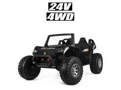 Детский электромобиль Джип Bambi M 4170 EBLR-2 (24V) Багги, двухместный, черный