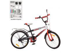Детский велосипед PROFI 20д. SY2055, Inspirer, черно-бело-красный