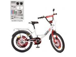 Детский велосипед PROFI 20д. XD2045, Original boy, бело-красный