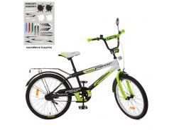 Велосипед детский PROFI 20д. SY2054 Inspirer, черно-бело-салатовый