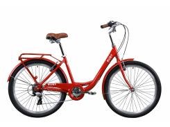 "Велосипед AL 26"" Dorozhnik RUBY рама-17"" красный с багажником зад St, с крылом St 2020 (OPS-D-26-106)"
