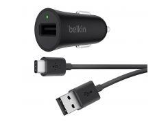 Автомобильное зарядное устройство Belkin Boost Up Quick Charge 3.0 + Type-C Cable Black (F7U032BT04-BLK)