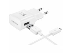 Сетевое зарядное устройство Samsung EP-TA20 Fast Charger + microUSB Cable White (EP-TA20EWEUGRU)