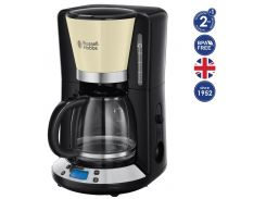 Кофеварка Russell Hobbs 24033-56 Colours Plus+, 1100 Вт, LCD-дисплей, Таймер на 24 часа, Кремовый