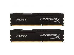 Память для ПК Kingston HyperX Fury DDR3 1866 16 Гб (2x8Гб) Black (HX318C10FBK2/16)