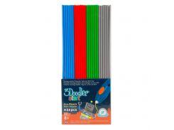Набор Стержней Для 3D-Ручки 3Doodler Start - Микс 24 Шт: Серый, Голубой, Зеленый, Красный (3DS-ECO-MIX2-24)