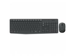 Комплект (клавиатура, мышь) беспроводной Logitech MK235 Black USB (L920-007948)