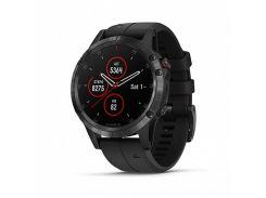 Спортивные часы Garmin Fenix 5 Plus Sapphire Black with Black Silicone (010-01988-01/79)