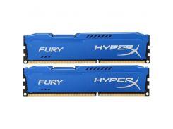 Память для ПК Kingston HyperX Fury DDR3 1600MHz 16Gb (2x8GB) Blue (HX316C10FK2/16)