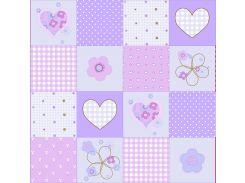 Обои бумажные Континент Мирабелла фиолетовая 52