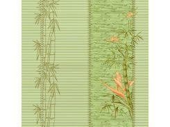 Обои бумажные влагостойкие Алия зеленая 2123