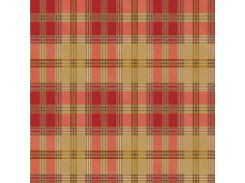 Обои бумажные Континент Шотландка красный 1363