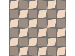 Обои бумажные влагостойкие Лалин бежевый с коричневым 2177