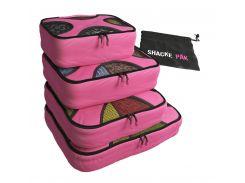 Комплект дорожных органайзеров для путешествий Shacke Pak (Розовый) (SP004)