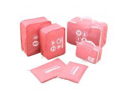 Комплект дорожных органайзеров для путешествий P.travel (Розовый) (PT107)