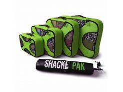 Комплект дорожных органайзеров для путешествий Shacke Pak 5 шт Зелёный (OT115)