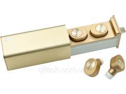НаушникиQitech Qibuds беспроводные Bluetooth 5.0 Gold | блютуз наушники золотые (Qibuds5.0gl)
