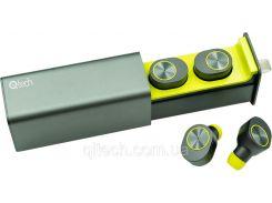 НаушникиQitech Qibuds беспроводные Bluetooth 5.0Green |блютуз наушники зеленые (Qibuds5.0gr)