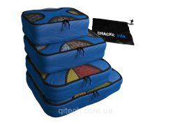 Комплект дорожных органайзеров для путешествий Shacke Pak (Синий) (SP005)