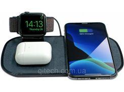 Беспроводное зарядное устройство Mophie 3в1 Charging Pad  повербанк с технологией QI Fast Charge 7.5 Вт
