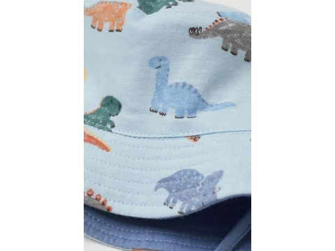 Двусторонняя панама H&M 80см (49) голубой динозавры 3048257911