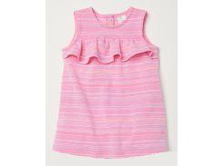 Платье H&M 80см розовый полоска 5907287