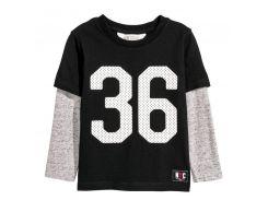 Лонгслив H&M 134 140см черный 5755287