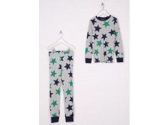 Пижама (кофта, брюки) H&M 98 104см серый звезды 53128481