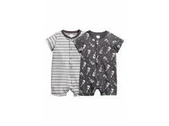 Пижама (2шт) H&M 74см серый 2172075