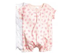 Пижама H&M 56см розовый клубничка 2470726
