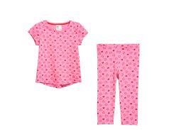 Пижама H&M 98 104см розовый сердечки 563874