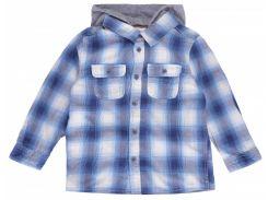 Рубашка H&M 74см синий клетка 3081162