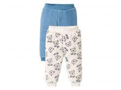 Пижамные брюки (2шт) Lupilu 74 80см голубой, белый 7305339