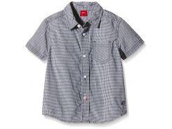 Рубашка s.Oliver 104 110см бело черный клетка 63604223368