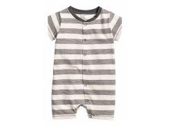 Пижама H&M 68см молочно серый полоска 3863996