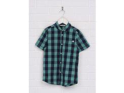 Рубашка H&M 134см зеленый клетка 96405268
