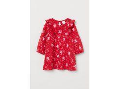 Платье H&M 68см красный сердечки 96699348